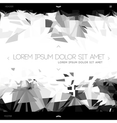 Polygonal design abstract web template vector image