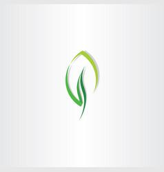 eco leaf green design logo icon vector image vector image