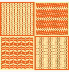 Seamless patterns foliage sun vector