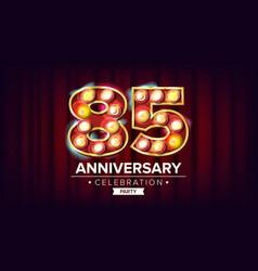 85 years anniversary banner eighty-five vector image