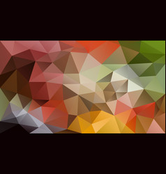 Abstract irregular polygon background autumn vector