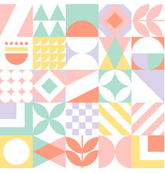 Abstract seamless geometric pattern colorful vector