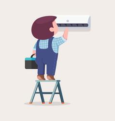Air conditioner service repair fix vector