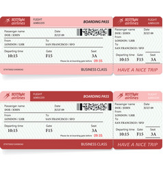 Airlane boarding pass vector