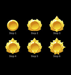 awards medals for gui game golden template vector image