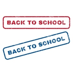 Back To School Rubber Stamps vector