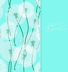 Background with lacy dandelions vector