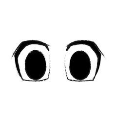 big cartoon eyes icon image vector image