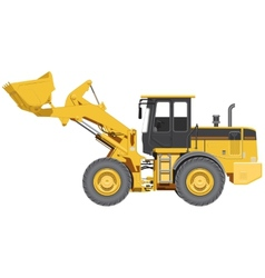Big wheel loader vector