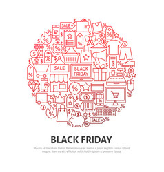 black friday circle concept vector image