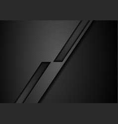 black tech geometric corporate background vector image vector image
