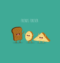 bread and toast vector image