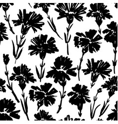 carnation flower seamless pattern vector image