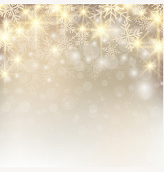 christmas background with snow and snowflakes vector image
