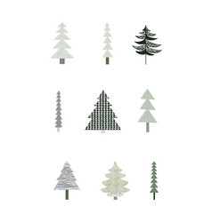 christmas poster with trees vector image