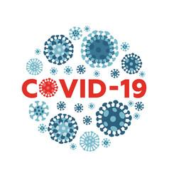 coronavirus creative round in china vector image