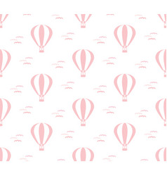 cute pink pattern with balloon vector image