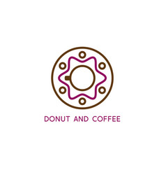donutabstract family and cup coffee design vector image