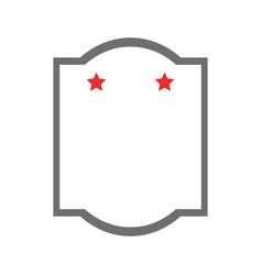 Elegant frame with stars vector