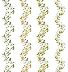 floral set seamless borders for your design vector image vector image