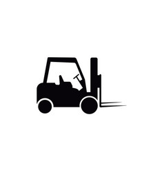 Forklift icon design template isolated vector