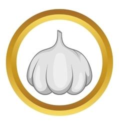 Garlic bulb icon vector