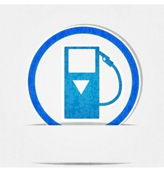 gas pump icon is blue on a white background in vector image