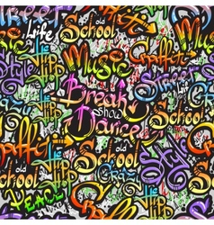 graffiti word seamless pattern vector image