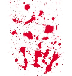 grunge texture from blood splats vector image