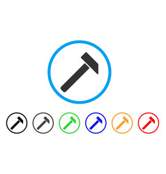 hammer rounded icon vector image