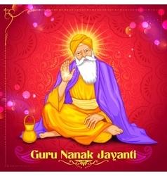 Happy Guru Nanak Jayanti festival of Sikh vector image