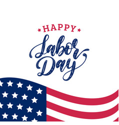 Labor day greeting or invitation card vector