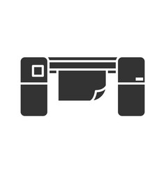 Large format printer glyph icon vector