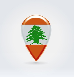 Lebanon icon point for map vector image