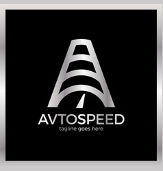 Letter a logotype - auto speed icon symbol vector