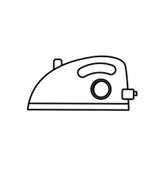 Line iron domestic object and housework vector