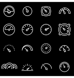 Line meter icon set vector