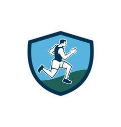 Marathon Runner Crest Retro vector