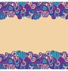 Mehndi horizontal backrtound vector