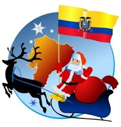 Merry Christmas Ecuador vector image