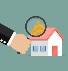 Money profit from real estate vector