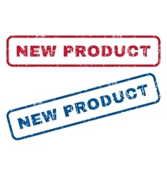 New Product Rubber Stamps vector