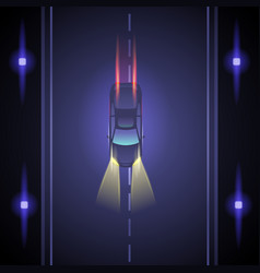 Night car race vector