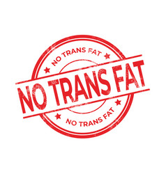 No trans fat rubber red stamp vector