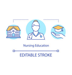 Nursing education concept icon vector