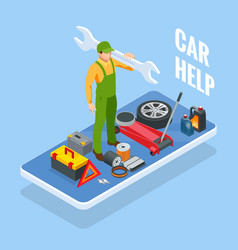 online roadside assistance automobile repair vector image