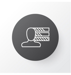 Personality icon symbol premium quality isolated vector