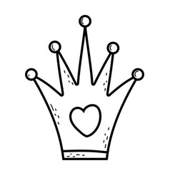 queen crown carnival accessory vector image