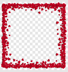 red paper heart frame background heart frame with vector image
