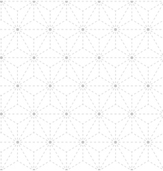 Seamless gray white geometrical pattern vector image